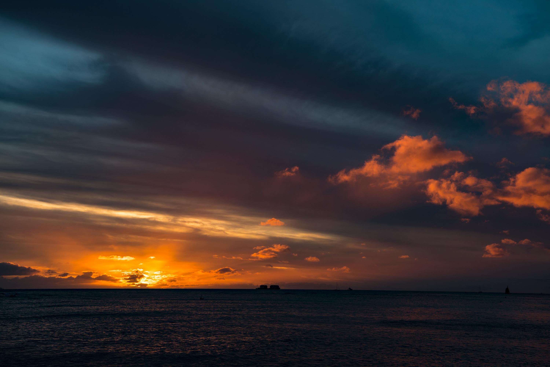 Sunset Gradation, Waikiki Beach