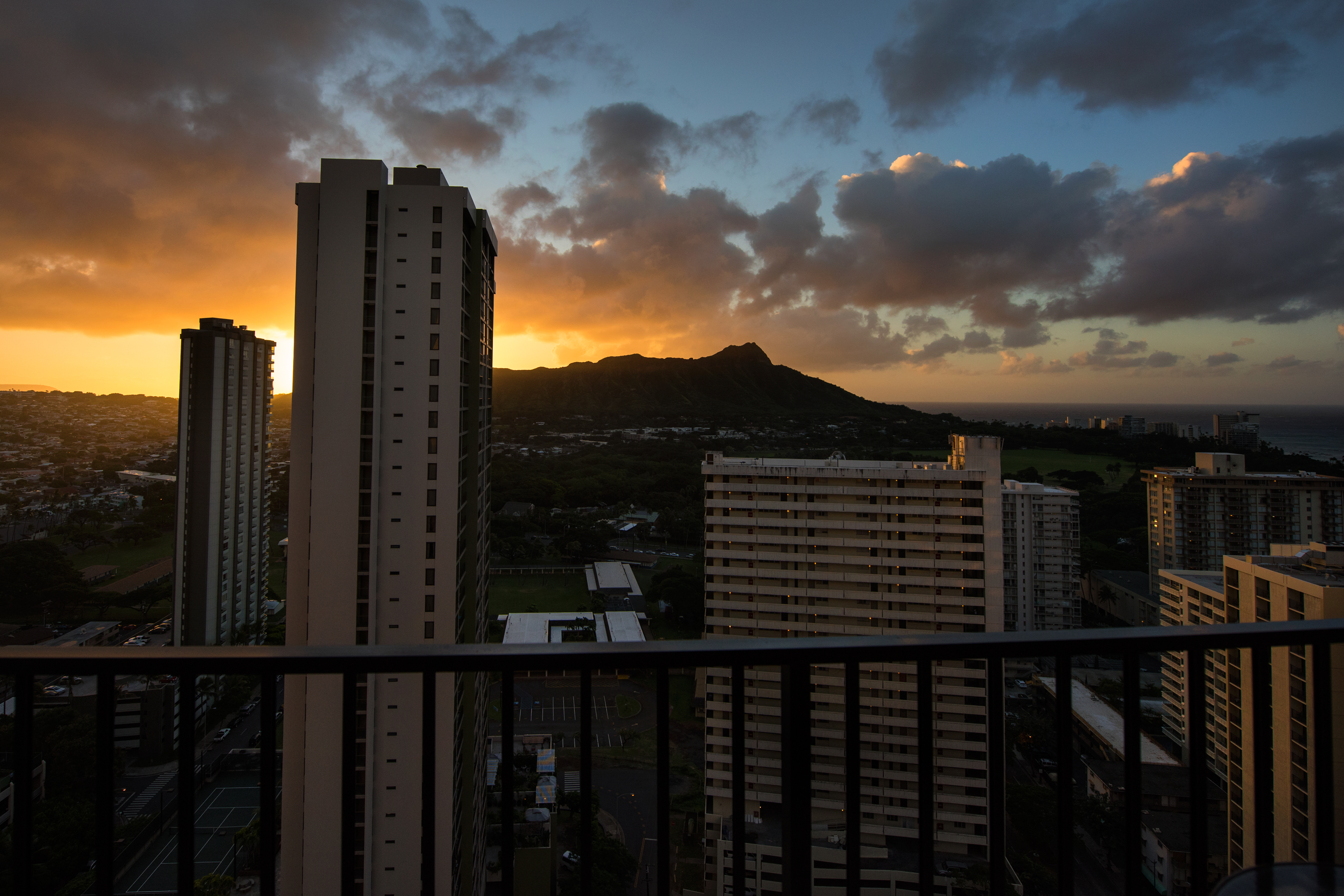 Sunrise from Waikiki Banyan