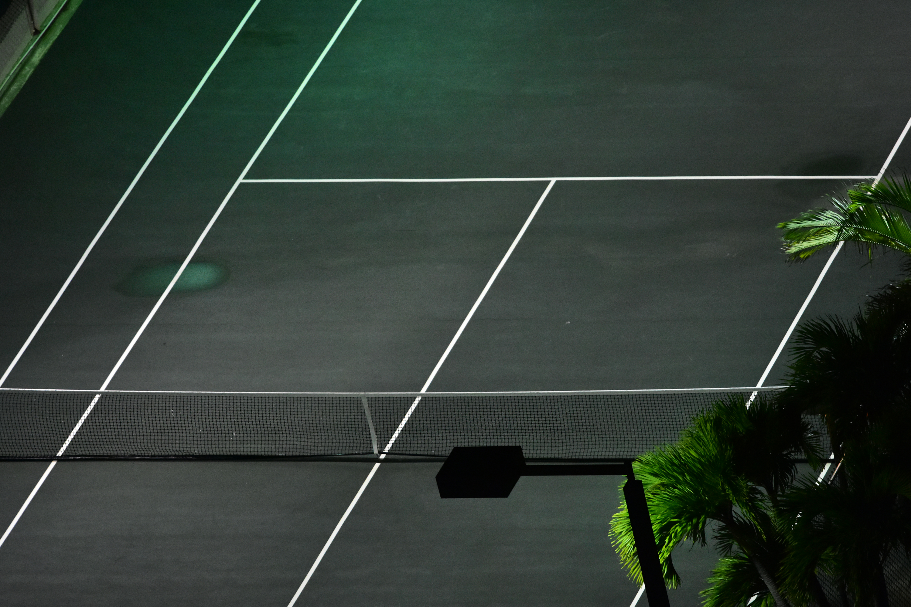 Night in Tennis Court