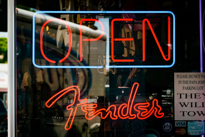 Fender Neon Sign