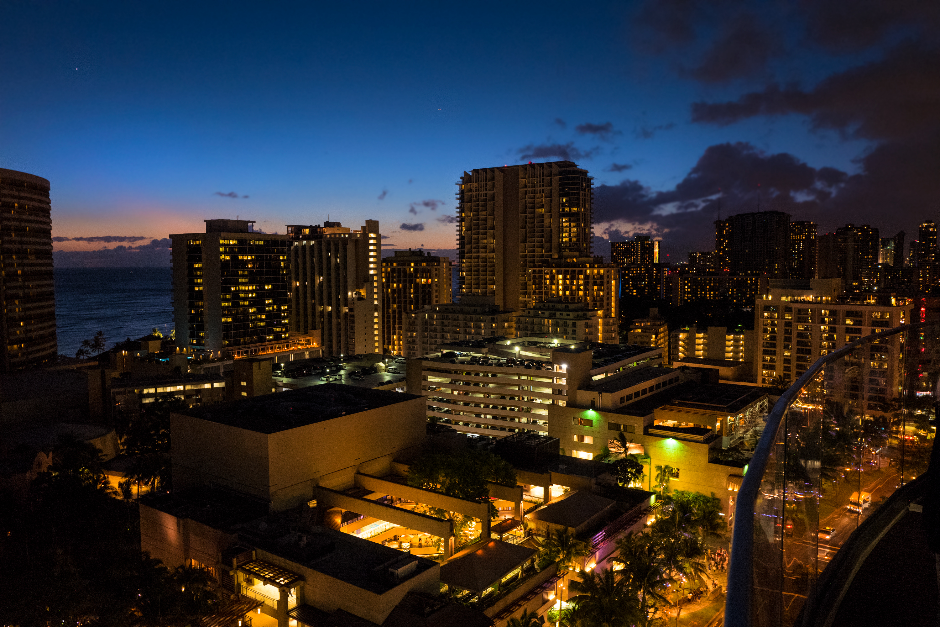Night View from Sky Waikiki