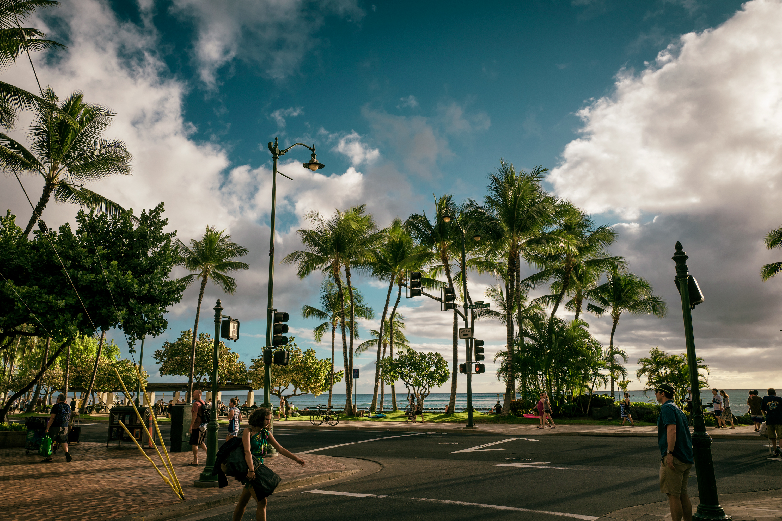 Late Afternoon Kalakaua Ave.