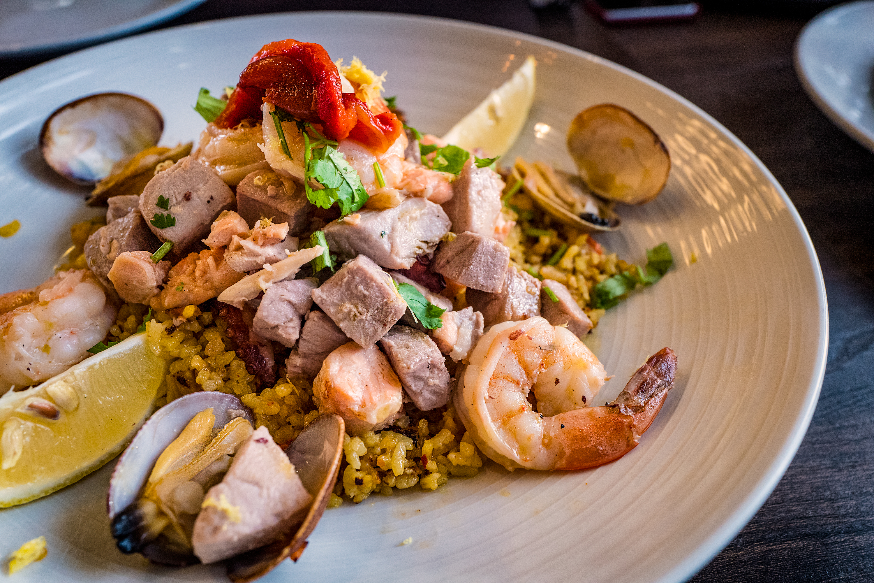 Seafood Paella, Harbor at Pier38