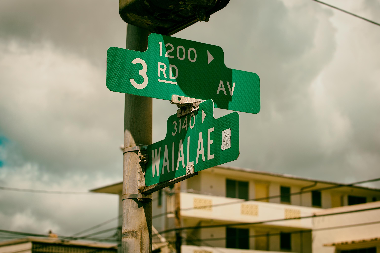 Street Sign, Waialae