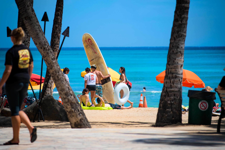 Bright Waikiki Beach